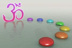 Chakra Stones On The Water Stock Images