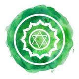 Chakra symbol. Watercolor artistic illustration Royalty Free Stock Images
