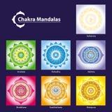 Chakra Symbol-Mandalen Lizenzfreie Stockfotografie
