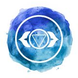Chakra symbol. Watercolor artistic illustration royalty free illustration