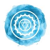Chakra symbol. Watercolor artistic illustration Royalty Free Stock Photo