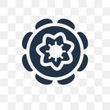 Chakra vector icon isolated on transparent background, Chakra t royalty free illustration