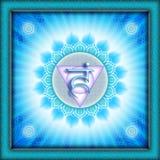 Chakra Vishuddha Photo stock
