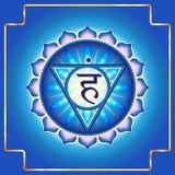 Chakra Vishuddha 向量例证