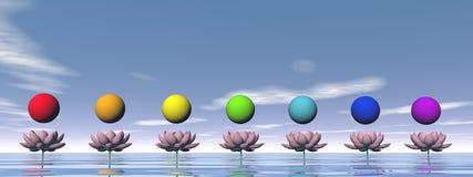 Chakras - 3D render Stock Photos