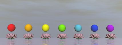 Chakras - 3D render Stock Images