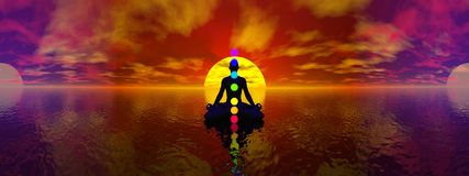 Chakras - 3D render Royalty Free Stock Image