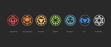 Free Chakras Energy Healing, Sacred Geometry Vector Stock Images - 98897234