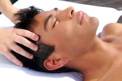 Chakras head massage ancient Maya therapy Royalty Free Stock Photo