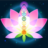 Chakras Lotus Royalty Free Stock Images