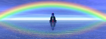 Chakras in meditatie Stock Afbeeldingen