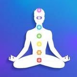 Chakras. Meditation Stock Images