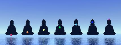 Chakras nella meditazione Fotografia Stock Libera da Diritti
