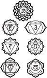 chakras siedem Zdjęcie Royalty Free
