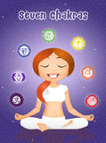 Chakras symbols Royalty Free Stock Photography