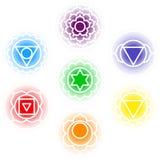 Chakras symbolsuppsättning Royaltyfri Foto