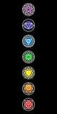 Chakras symbolsuppsättning Arkivbild