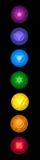 Chakras symbolsuppsättning Arkivfoton