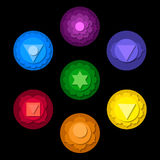 Chakras symbolsuppsättning Royaltyfri Bild