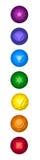 Chakras symbolsuppsättning Royaltyfria Foton