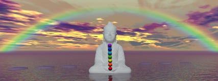 Chakras und Buddha Stockbild