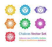 Chakras. Vector set Stock Photos