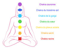 Chakras Woman Description French Stock Images