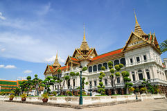 The Chakri Maha Prasat throne hall. Stock Photos