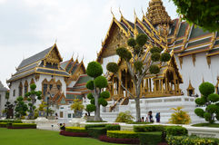 The Chakri Maha Prasat Throne inside the Grand Palace Stock Photography