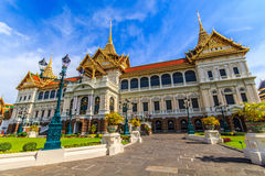 Chakri Throne Hall in the corridor . Chakri Throne Hall in the Grand Palace, Wat Phra Kaew in Bangkok, Thailand . Thailand or destinations . Many travelers From royalty free stock photos