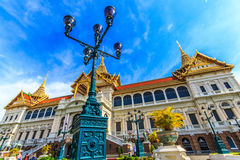 Chakri Throne Hall in the lower and oblique angle . Chakri Throne Hall in the Grand Palace, Wat Phra Kaew in Bangkok, Thailand . Thailand or destinations . Many stock photo