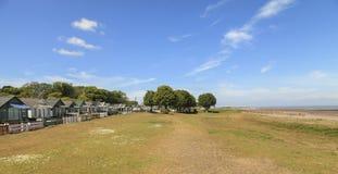 Chalés do feriado na praia de Dunster Somerset, Inglaterra, U K Imagem de Stock