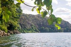 Chala jezioro na granicie Kenja i Tanzania, Afryka Fotografia Stock