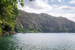 Chala Lake on the border of Kenya and Tanzania, Africa. Stock Photos