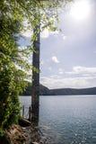 Chala Lake on the border of Kenya and Tanzania, Africa. Stock Photography