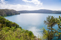Chala Lake on the border of Kenya and Tanzania, Africa. Royalty Free Stock Images