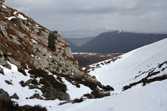 Chalamain Gap, Cairngorms stock photos