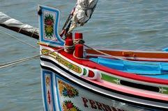 Chaland de fleuve Photos libres de droits