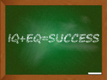 Chalkboard depicting success solution Royalty Free Stock Images
