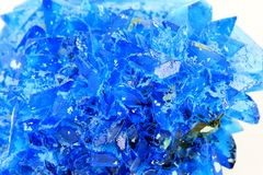 Chalcanthite mineral Stock Photo