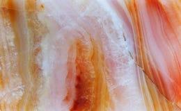 Chalcedonu gemstone wzoru kopalnej tekstury kwarc drobnokrystaliczny agregat, piękny czerwony biały brąz Obrazy Stock