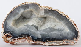 Chalcedony geode Stock Images