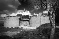 Chalcolithic-Zeitraum-Dorf stockbild