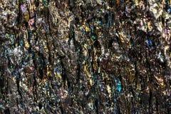 Chalcopyrite de minerai de cuivre Images libres de droits