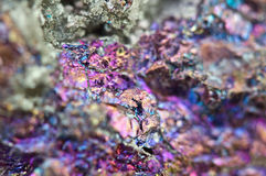 Chalcopyrite, It has the chemical formula (CuFeS2) Royalty Free Stock Photos
