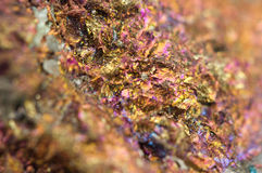 Chalcopyrite, It has the chemical formula (CuFeS2) Stock Images