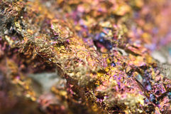 Chalcopyrite, It has the chemical formula (CuFeS2) Royalty Free Stock Images
