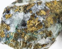 Collection mineral Chalcopyrite Royalty Free Stock Photos