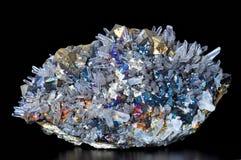 Chalcopyrite, pyriet en kalkspaat Stock Foto's