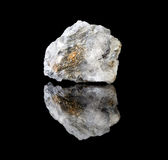 Chalcopyrite in quartz crystal Royalty Free Stock Photography